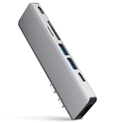 USB C ハブ Macbook Pro ハブ Macbook Airハブ 7-in-2 Type-c 変換アダプタ thunderbolt3 40Gbps 4k 解像度 hdmi USB3.0ポート 高速データ転送 タイプ C 100W高速PD充電 MacBook Air&Pro専用 リモート 在宅勤務