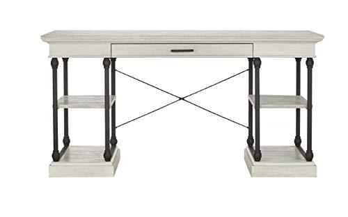 Belvidere Industrial Metal Frame Writing Desk - Inspire Q (White)