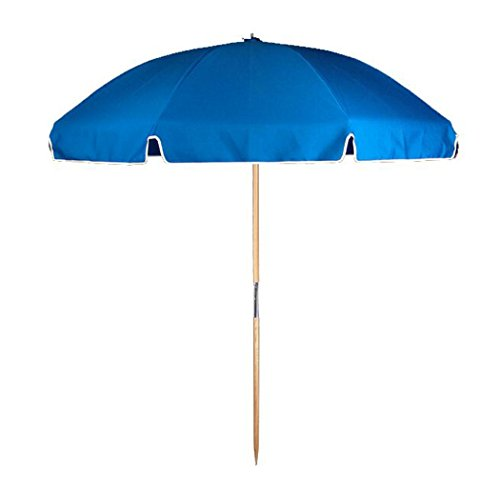 7.5 ft.Steel Commercial Grade Beach Umbrella Ash Wood Pole & Carry Bag