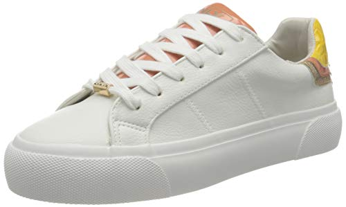 ONLY ONLLIV-4 PU Layered Sneaker, Zapatillas Mujer, Blanco, 38 EU