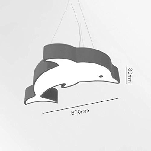 Allamp Luces Pendientes, lámpara LED de la Historieta Creativa Dolphin habitación de los niños Kinder Parque de Atracciones Piscina de la lámpara, D Oficina en casa (Color : B)