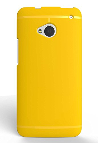 Chivel (TM) Premium Slim Fit Soft TPU Protector Case for NEW HTC One Smartphone (M7, Yellow)