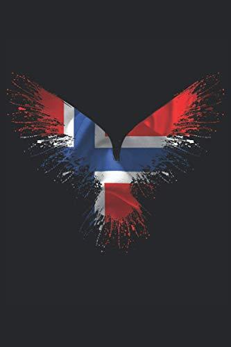 Cuervo de Odin noruego: Cuervo de Odin noruego: Libro forrado de 6 x 9 pulgadas con 120 páginas | Cuaderno cuervo del noruego Odin