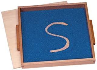 Montessori Wood Sand Writing Therapy Tray with Lid and Colored Sand
