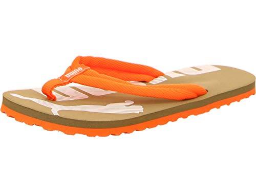 PUMA Epic Flip V2 Jr Zapatos de Playa y Piscina, Grün (Deep Lichen Green-Firecracker), 37 EU