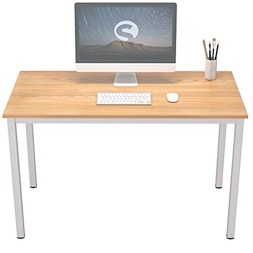soges Scrivania per Computer,Postazioni di lavoro per computer,Table d'ordinateur Classique,Realizzato in Materiale di legno di alta qualità,Struttura in acciaio,120 * 60 * 75CM