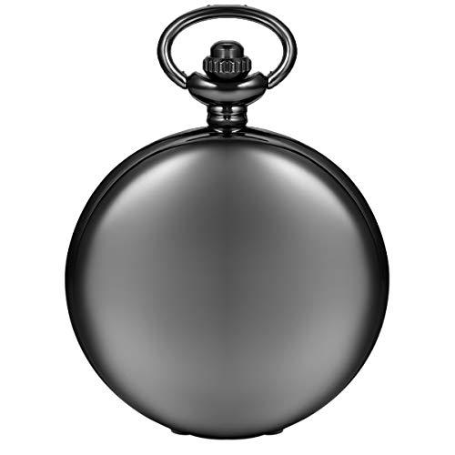 Avaner Reloj de Bolsillo Colgante Collar para Hombres Mujeres con Cadena Reloj Hombre Classic Suave Pulido Metal Regalo para Padre, Novio