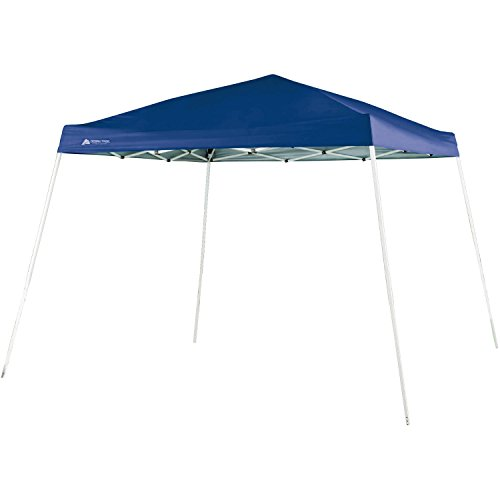 Ozark Trail 10 FT X 10 FT Slant Leg Instant Setup Canopy / Gazebo Shelter / Easy Pop Up Tent Backyard Outdoor Portable Deck Or Patio Canopy With Durable Steel Frame, Blue Color (3.05 Meters X 3.05 Meters), 64 Square Feet Shade Area (5.9 Square Meters), Center Height 97.6 Inches, UV 50plus (Model Number FGA99SL)