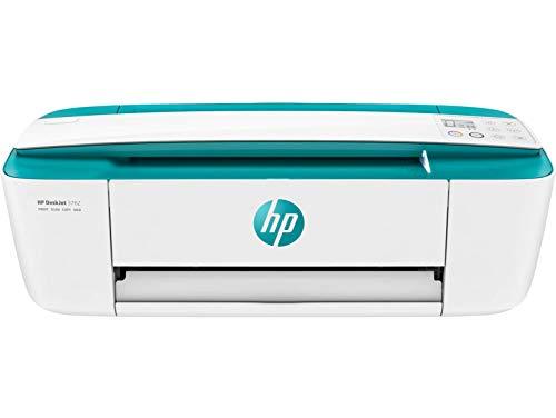 HP DeskJet 3762 (T8X23B) Stampante Multifunzione a Getto di Inchiostro, Stampa, Scansiona, Fotocopia, Wi-Fi, A4, HP Smart, 6 Mesi di HP Instant Ink Inclusi nel Prezzo, Verde Aqua
