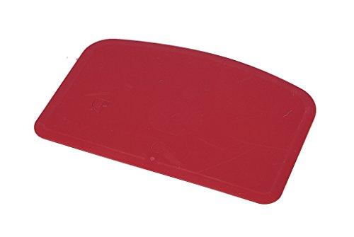 Maya 71911 - Espátula Flexible, Metal Detectable y Rayos X, 146 x 98 x 1,65 mm, Rojo