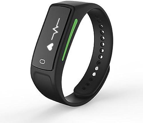 Meet Global Supermarket-Montres connectées@yyv6 bracelet intelligent   smarwatch   bracelet intelligent moniteur de fréquence cardiaque bracelet sommeil moniteur pédomètre bracelet , noir