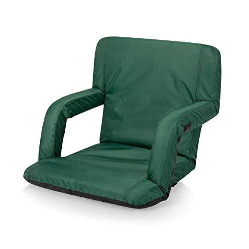 ONIVA  a Picnic Time brand Portable Ventura Reclining Stadium Seat for Bleachers Hunter Green 38 x 20 x 4 618001210000