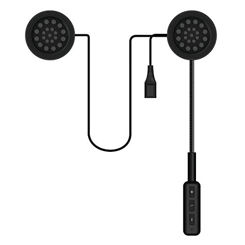 Motorcycle Bluetooth Helmet Headset, Bluetooth 4.0 Waterproof Wireless Helmet Headphone Communication Systems, Speakers Hands Free, Music Call Control, Automatic Answering, High Sound Quality System