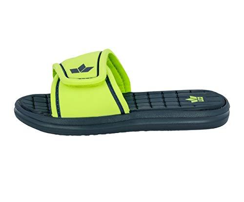 Lico Unisex - Erwachsene Pantoletten Barracuda V,Clogs, Slipper Slides Sandale sommerschuh freizeitschuh,Marine/Lemon,41 EU