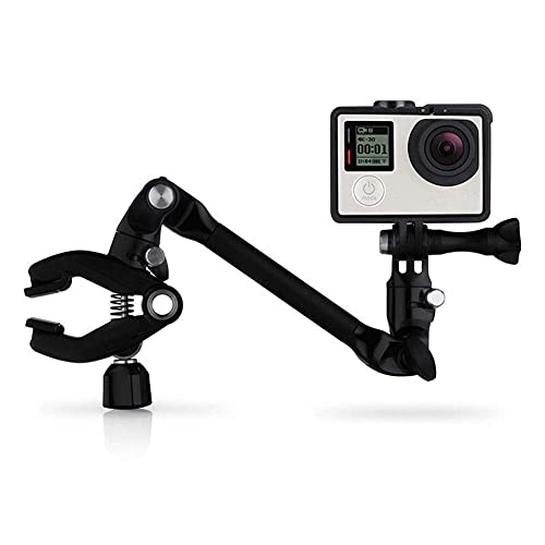GzxLaY Nuevo Clip de Montaje de trípodes de Instrumento Ajustable Music Jam para GoPro Hero 7/6/5/4/3/3 5 sesiones para SJCAM SJ4000 H9 Xiaomi Yi 4K Accesorios de cámara de acción. (Color : Black)