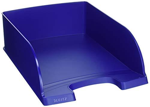 Leitz PLUS JUMBO Vaschetta Portacorrispondenza, per Formato A4, Altezza 9,5 cm, Poliestere, Blu, 1 pezzo