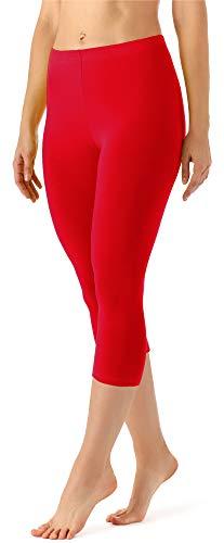 Merry Style Damen Leggings 3/4 aus Viskose MS10-144 (Rot, XL)