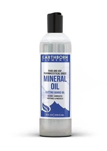 Mineral Oil (8 fl oz) Food & USP Grade, for Cutting Boards, Butcher Blocks, Counter Tops, Wooden Utensils
