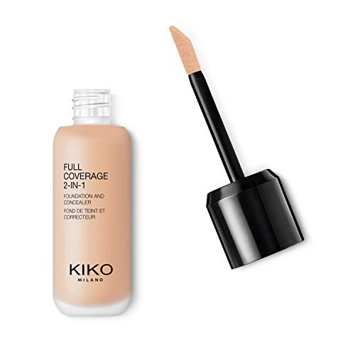 KIKO Milano Full Coverage 2-in-1 Foundation & Concealer 02 - WR 10, 30 g