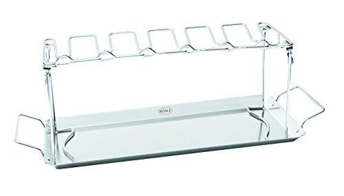 Rösle Hähnchenrack, Edelstahl 18/10, Verwendung auf dem Grill oder im Backofen, 43 x 15,7 x 15 cm