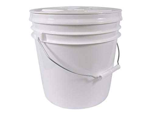 2 Gallon Food Grade Bucket with Easy Airtight Spin Off and Spin On Gamma Seal Lid Bundle - Lid Has Been Installed to the Bucket