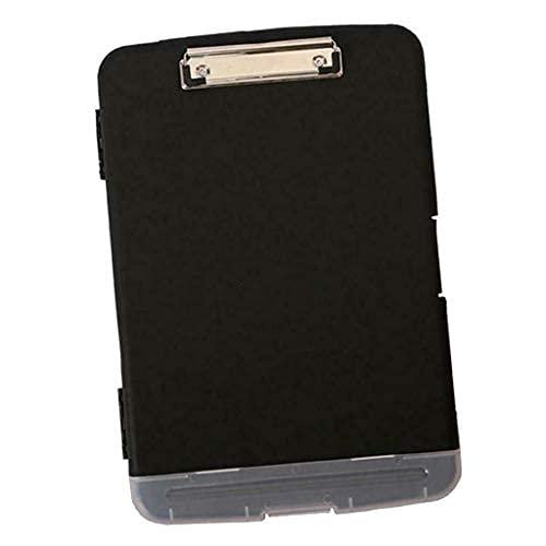 Plástico impermeable portapapeles caja de almacenamiento caso carpeta tablero a4 multifunción