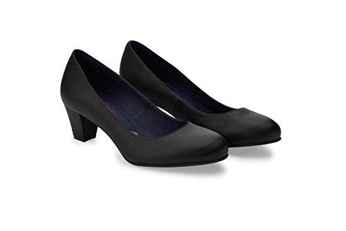 Oneflex Lorene negro - zapato de trabajo cómodo para mujer