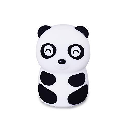 Hlearit Panda Nachtlicht - Silikon Dimmbare Baby Stilllampe Stillen Windel Ändern Nachttischlampe für Kinder Led USB Wiederaufladbare Berührungssensor Ändern 2 Farben