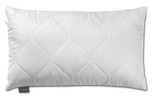 Traumnacht 3-Star Kopfkissen, Einzelpack, weich und bequem aus softer Microfaser, 50 x 70 cm, Waschbar, weiß