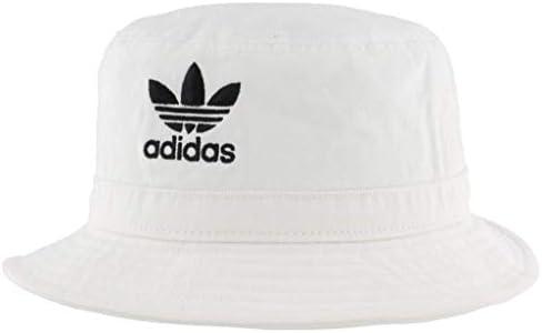 adidas Originals Unisex Washed Bucket Hat White Black One Size product image