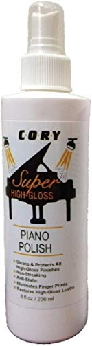 Cory Super High Gloss Piano Polish 8 Ounce Bottle for Pianos With High Gloss Finishes