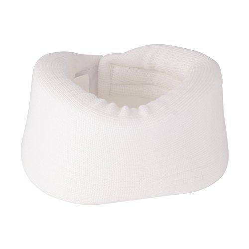 DMI Soft Foam Cervical Collar Neck Support, Adjustable, Comfortable, Hand Washable, Large, White