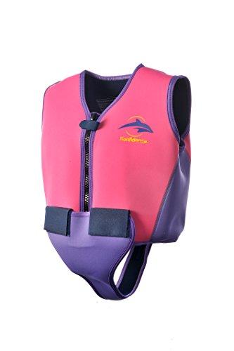 Konfidence - Giubbotto da nuoto per giovani, 8-10 anni, colore: Rosa