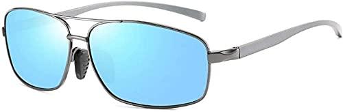 gafas de sol Hombres s Gafas de sol ultraligero Ultra-delgado Marco al aire libre Equitación Deportes UV400 Aislamiento UV Deportes Conducción Playa (Color: Azul)-Azul