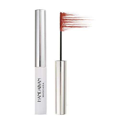 GL-Turelifes Mascara 12 couleurs Mascara fibre colorée Mascara de charme longue durée, cils épais et longs maquillage des yeux imperméable et anti-bavures (#11 Crimson)