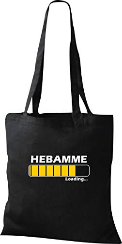 Shirtinstyle Stoffbeutel Jute, Loading Hebamme Ausbildung, Job, Beruf Tasche Shooper Kollegen, Schwarz