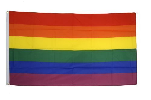 AZ FLAG Bandera Arcoiris 250x150cm - Gran Bandera Gay – Rainbow 150 x 250 cm