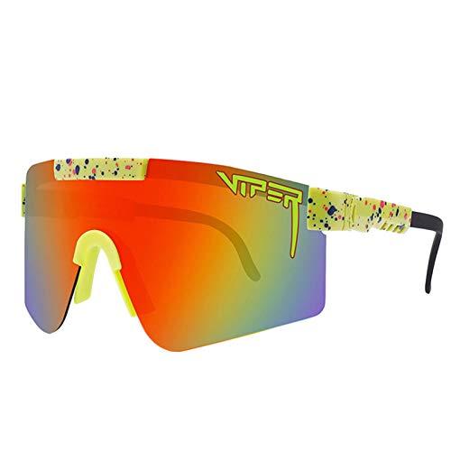 huaqiang194 Sportbrille Pit Viper Sonnenbrille, polarisierte Sonnenbrille für Männer und Frauen Winddichte Outdoorbrille - C11