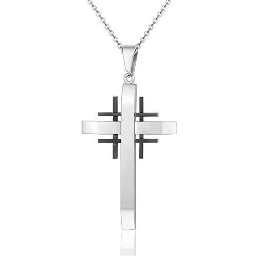 GXju- Furniture Trendy Titan Stahl Jerusalem-Kreuz-Anhänger-Halskette for Männer Frauen Gebet Schmuck Männlich Weiblich Drop Shipping Der Beste Urlaub Geschenke for Familie und Freunde