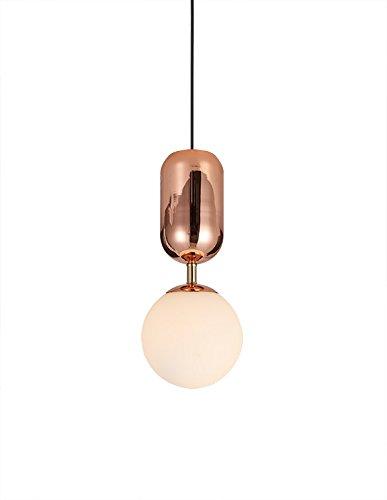 Meubletmoi Suspension Boule en Verre avec Une Finition cuivrée – Style rétro – Globe