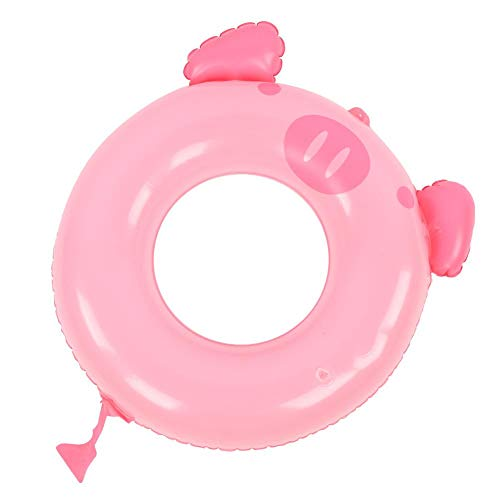 Anillo de natación para niños, protección del medio ambiente de verano Anillo de natación de inflado de agua para niños de PVC, Círculo de modelado de cerdo rosa Juguete de piscina para niños(70cm)