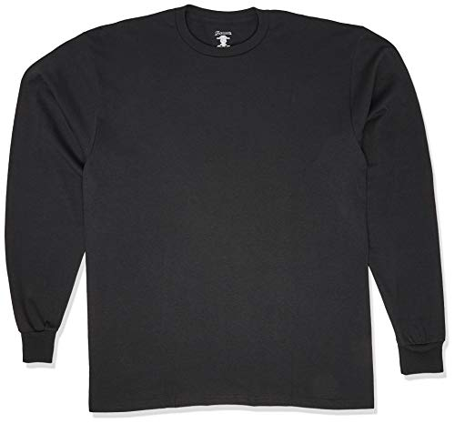 Soffe Men's Long-Sleeve Cotton T-Shirt, Black, X-Large