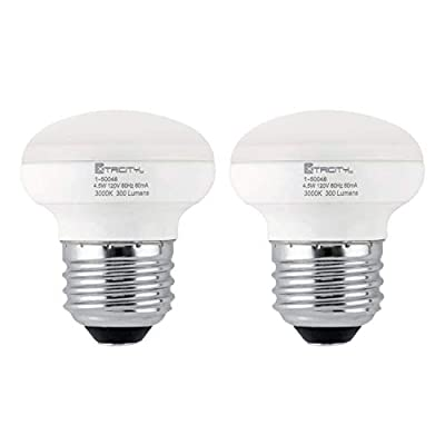 R14 LED Light Bulb, 4.5w (40w Equivalent), Dimmable, 300 Lumens, 3000k Soft White, E26 Medium Base, RoHS Compliant (Pack of 2)
