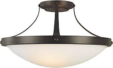 Feiss Boulevard 2 Light Wrought Iron Semi-Flush Ceiling Fixture