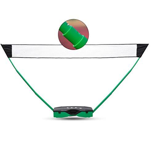 Netze & Garnituren Badminton Badminton-Netzständer tragbarer Netzständer Teleskop-Ballnetzständer Outdoor-Sport- und Fitnessgeräte Heim-Volleyballnetz (Color : Green, Size : 302 * 155 * 32cm)