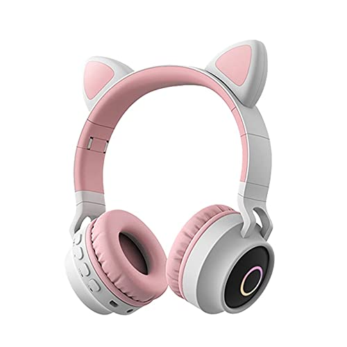 CZYNB Headphones Gaming Headset with Mic & LED Light Headset with Surround Sound Stereo Children's headsets FM Callable Foldable Telescopic Gaming