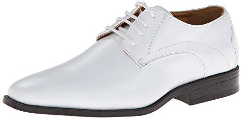 Stacy Adams Carmichael Plain Toe Lace-up Uniform Oxford Dress Shoe (Little Kid/Big Kid),White,5 M US Big Kid