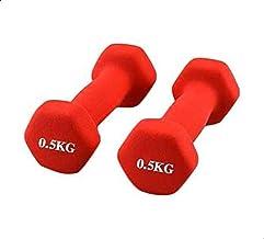Pro Hanson 2 Pieces Double Dumbbells Vinyl Red, 0.5kg