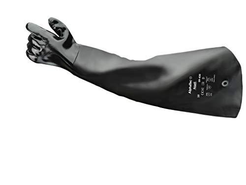 Ansell Scorpio 09-430 Neoprenhandschuhe, Chemikalien- und Flüssigkeitsschutz, Schwarz, Größe 10, 1Paar
