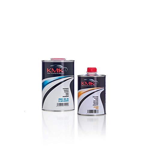 KMK Kit Barniz HS 1 L (Catalizador Rapido) - Kit Antiscratch Clear Coat 1 L (Fast Hardener)